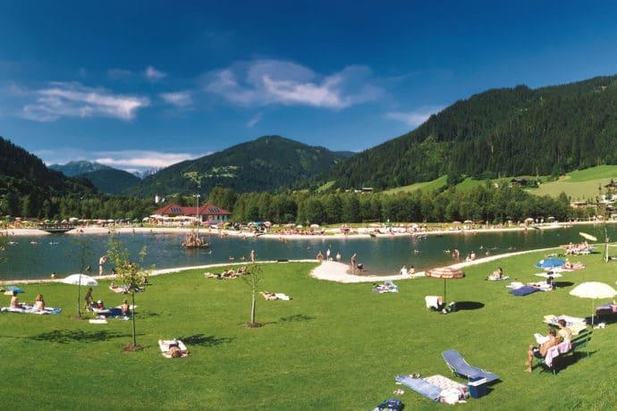 Sommerurlaub - Badesee in Eben i. P.