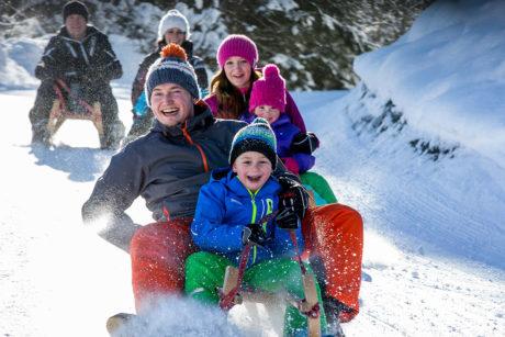 Winterurlaub in Wagrain, Rodeln
