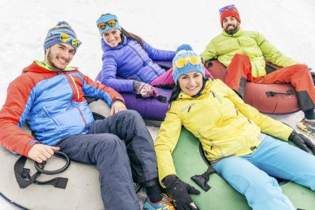 Winterurlaub in Wagrain, Snowtubing